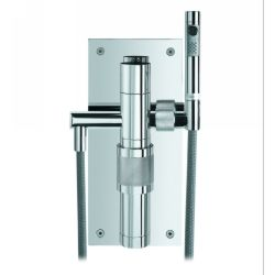 Whitehaus 0227 Gesto Wall Mount Shower Mixer with Diverter &Hand Held Shower