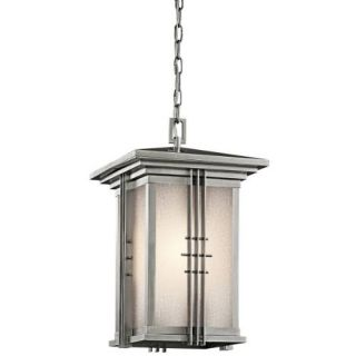 Kichler 49161SS Outdoor Light, Arts and Crafts/Mission Pendant 1 Light Fixture Stainless Steel