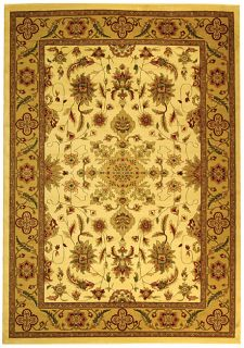 Lyndhurst Collection Ohsak Ivory/ Tan Rug (53 X 76)