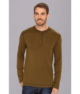 Mountain Hardwear Trekkin Thermal Henley Mens Long Sleeve Pullover (Green)
