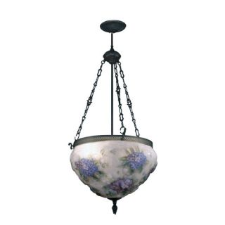 Dale Tiffany Hydrangea Pairpoint 3 Light Foyer Inverted Pendant 10236/3LTE
