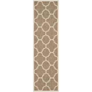 Safavieh Indoor/ Outdoor Courtyard Brown Rug (23 X 10)
