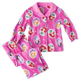 Disney Princess Toddler Girls 2 Piece Long Sleeve Button Down Pajama Set