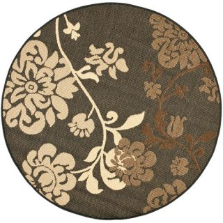 Safavieh Courtyard Black Natural/Brown Rug CY4027D Rug Size 53 Round