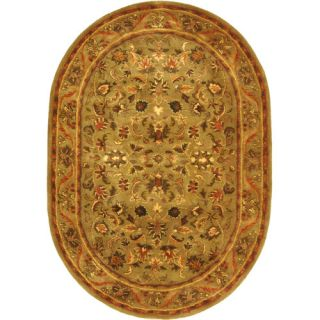 Safavieh Antiquities Majesty Sage/Gold Rug AT52A Rug Size Oval 46 x 66