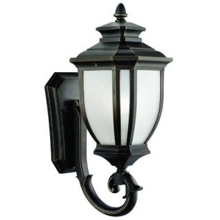 Kichler 9041RZ Outdoor Light, Transitional Wall Mount 1 Light Fixture Rubbed Bronze