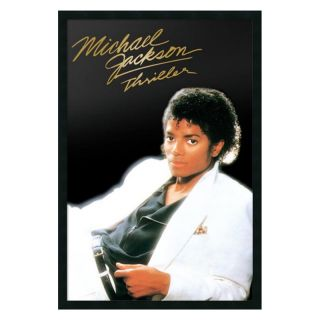 J and S Framing LLC Michael Jackson   Thriller Album Framed Wall Art   25.41W x