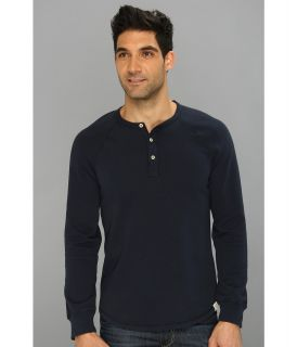 Lucky Brand Honeycomb Henley Mens T Shirt (Navy)