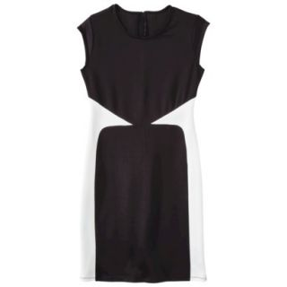 Mossimo Womens Colorblock Scuba Dress   Black XXL