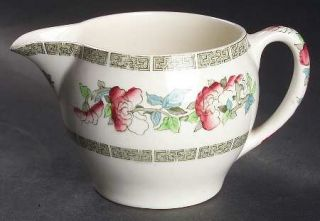 Johnson Brothers Indian Tree (Green Key, Cream) Creamer, Fine China Dinnerware