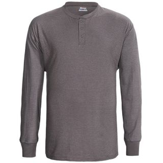Hanes Henley T Shirt   Cotton  Long Sleeve (For Men and Women)   OXFORD GREY (3XL )