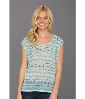 Lucky Brand Carlen Tee Womens T Shirt (Blue)
