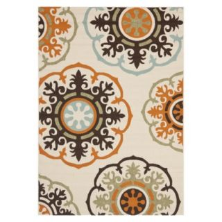 Safavieh Croatia Indoor/Outdoor Area Rug   Cream/Terracotta (53x77)