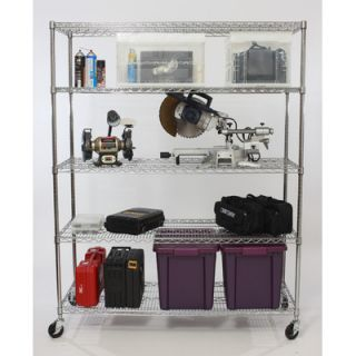 Trinity Five Tier NSF Extra Large Commercial Grade Shelving Rack in Chrome TB