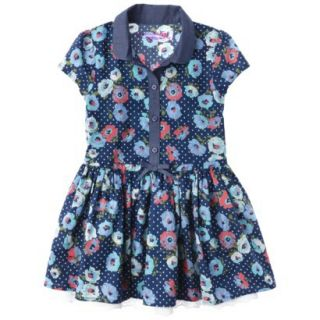 Genuine Kids from OshKosh Infant Toddler Girls Shirt Dress   Deep Water 12 M
