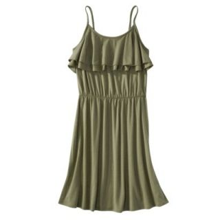Mossimo Supply Co. Juniors Ruffle Front Dress   Tanglewood Green XL(15 17)