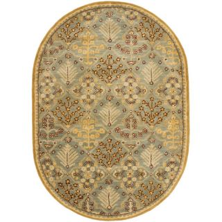 Safavieh Antiquities Light Blue / Gold AT613A Rug Size Oval 46 x 66