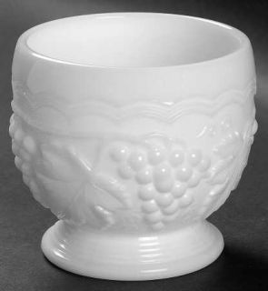 Imperial Glass Ohio Vintage Grape Milk Glass Sugar Open   Milk Glass,Grape Desig