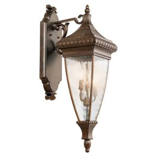 Kichler 49132BRZ Outdoor Light, Classic (Formal Traditional) Wall Lantern 3 Light Fixture Bronze