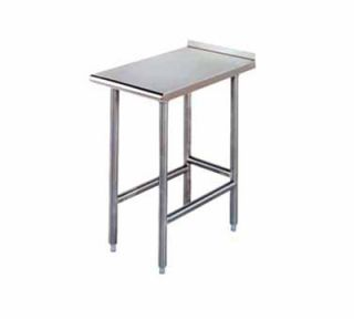 Advance Tabco Equipment Filler Table   Open Base, Rear Turn Up, 12x30