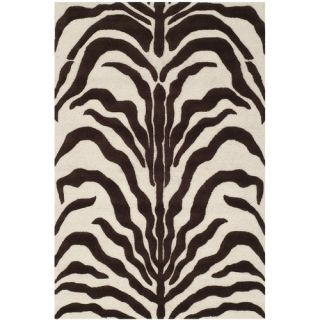 Safavieh Cambridge Ivory and Brown Rug CAM709V  Rug Size 4 x 6