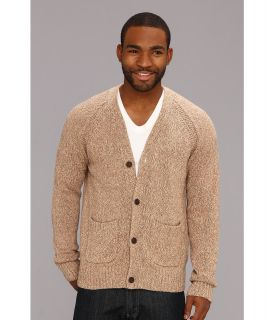 Lucky Brand Slub Cardigan Mens Sweater (Multi)