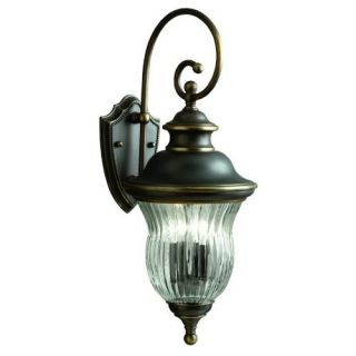 Kichler 9452OZ Outdoor Light, Classic (Formal Traditional) Wall 3 Light Fixture Olde Bronze