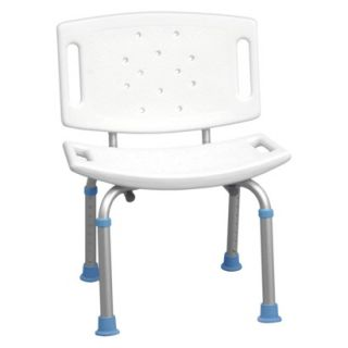 AquaSense Adjustable Bath and Shower Chair with Non Slip Seat and Backrest,