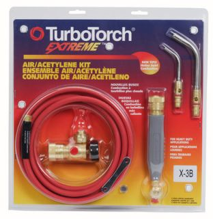 Turbo Torch X3B Light/Medium Duty Extreme Torch Kit Air Acetylene, 3