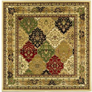 Lyndhurst Collection Multicolor/ Ivory Rug (6 Square)