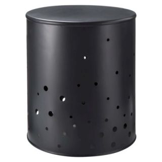 Accent Table Nate Berkus Round Metal Accent Table   Black