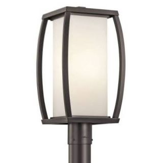 Kichler 49342AZ Outdoor Light, Transitional Post 1 Light Fixture Architectural Bronze