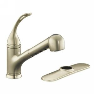 Kohler K 15160 L BN Coralais Single Handle Kitchen Faucet with Pull Out Spray