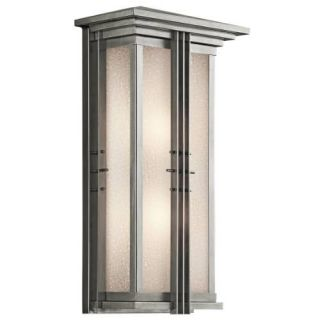 Kichler 49160SS Outdoor Light, Arts and Crafts/Mission Lantern 2 Light Fixture Stainless Steel