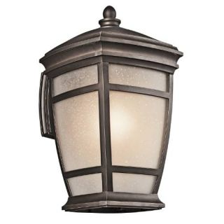 Kichler 49272RZ Outdoor Light, Transitional Wall 1 Light Fixture Rubbed Bronze