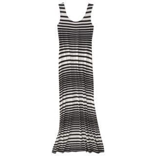 Merona Petites Sleeveless Maxi Dress   Black/Cream XXLP