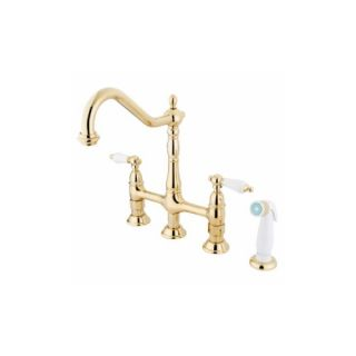 Elements of Design ES1272PL New Orleans Two Handle Kitchen Faucet With Spray