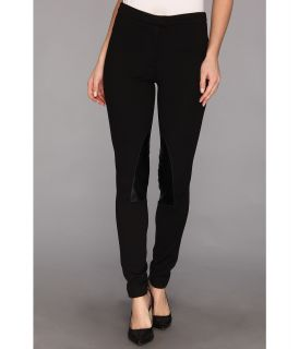MICHAEL Michael Kors Faux Leather/ Knit Riding Pant Womens Casual Pants (Black)