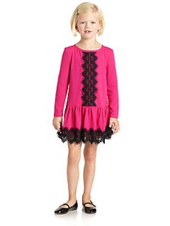 Juicy Couture Toddlers & Little Girls Lace Trim Dress   Rose