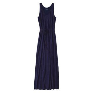 Merona Petites Sleeveless Maxi Dress   Navy XS