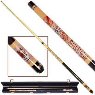Trademark Siberian Tiger Billiard Pool Cue With Case