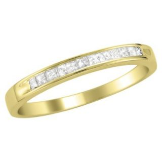 1/4 CT.T.W. Ring Band 14K Yellow Gold   Size 7