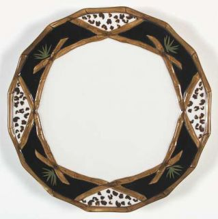 Zrike Bamboo Forest Dinner Plate, Fine China Dinnerware   Jungle Motif, Multisid