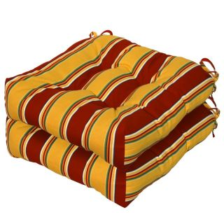Greendale Home Fashions 20 inch Outdoor Seat Cushions Set of 2 Roma Stripe