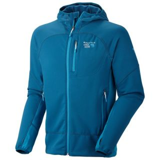 Mountain Hardwear Desna Hooded Jacket   Polartec(R) Power Stretch(R) (For Men)   LAGOON/CAPRIS (XL )