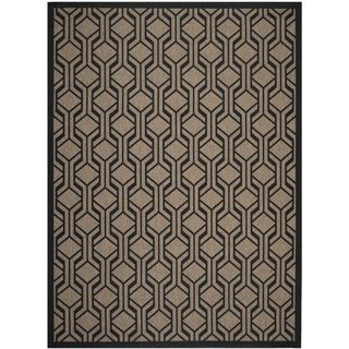 Safavieh Indoor/ Outdoor Courtyard Brown/ Black Rug (8 X 11)