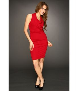 Nicole Miller Cowl Neck Dress Womens Dress (Red)