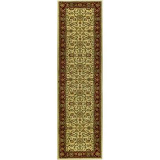 Lyndhurst Collection Majestic Ivory/ Red Runer (23 X 6)