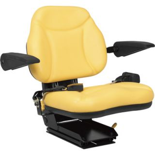 A & I Products Big Boy Suspension Tractor Seat   Yellow, Model# BBS108YL