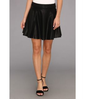 Blank NYC Vegan Leather Skater Skirt in Pussy Cat Womens Skirt (Black)